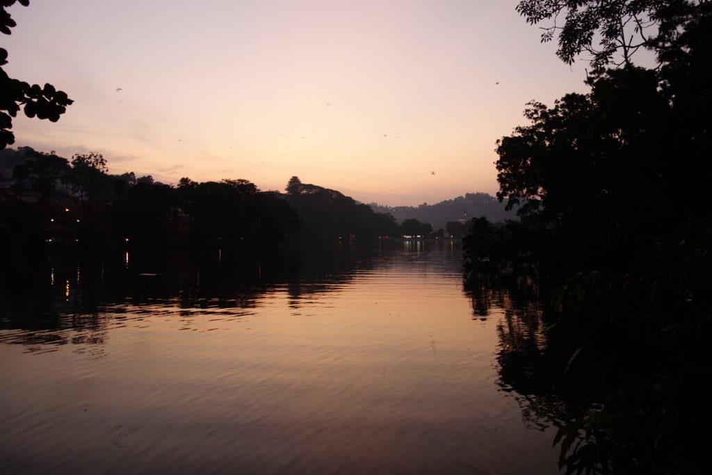Kandy-Lake bei Sonnenuntergang